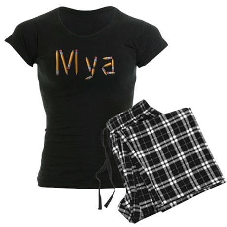 Mya Pencils Women's Dark Pajamas