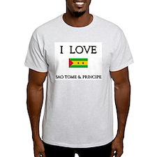 I Love Sao Tome & Principe Ash Grey T-Shirt