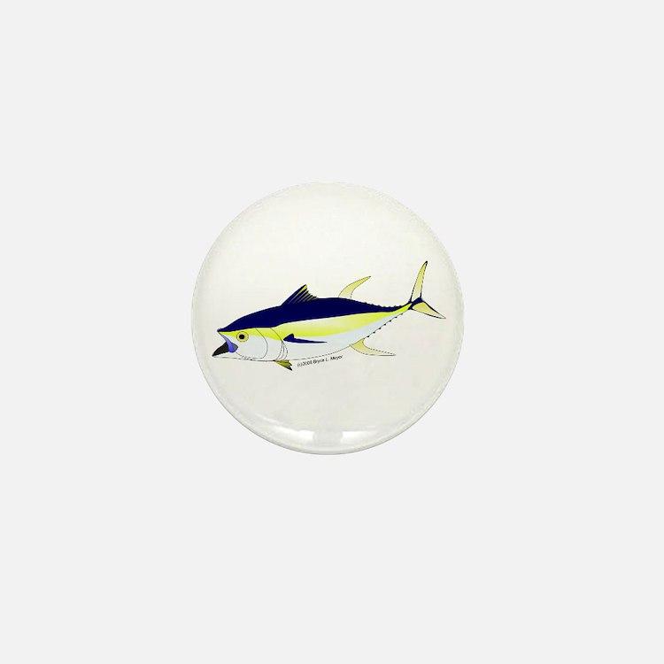 Yellowfin Tuna (Allison Tuna) fish Mini Button