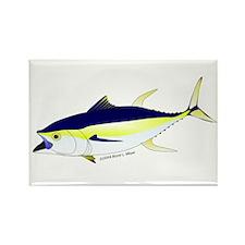 Yellowfin Tuna (Allison Tuna) fish Rectangle Magne