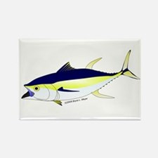 Yellowfin Tuna (Allison Tuna) fish Rectangle Magne