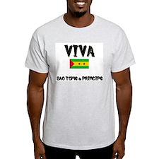 Viva Sao Tome & Principe Ash Grey T-Shirt