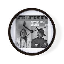 Sitting Bull - Custer Wall Clock