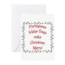 Merry Portuguese Water Greeting Cards (Package of