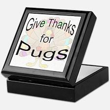 Thanks for Pug Keepsake Box