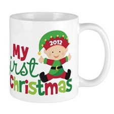 Baby Elf Babies First Christmas Mug