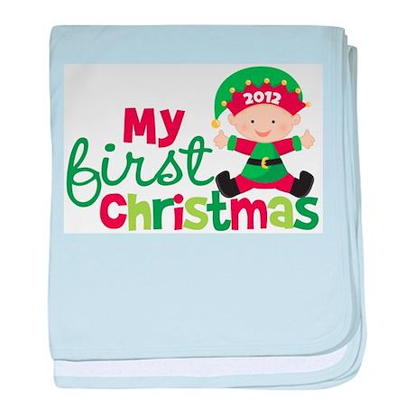 Baby Elf Babies First Christmas baby blanket