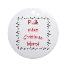 Merry Puli Ornament (Round)