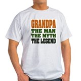 Grandpa the man the myth the legend Mens Light T-shirts
