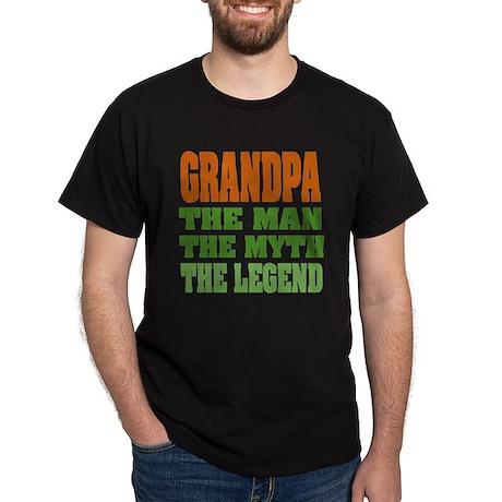 Grandpa - The Legend Black T-Shirt