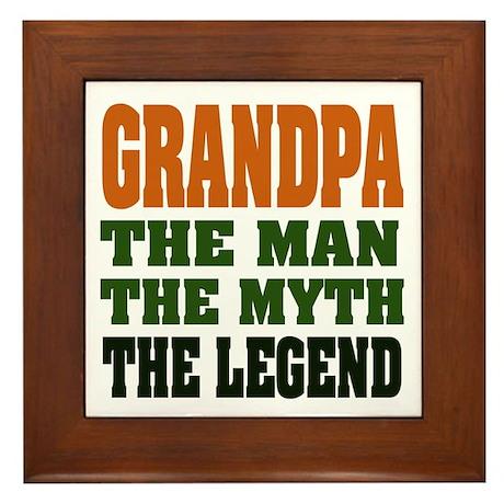 Grandpa - The Legend Framed Tile