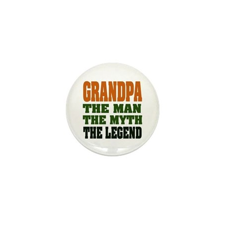 Grandpa - The Legend Mini Button
