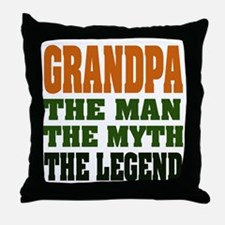 Grandpa - The Legend Throw Pillow