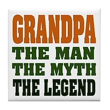 Grandpa - The Legend Tile Coaster