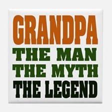 Grandpa - The Legend Tile Coaster