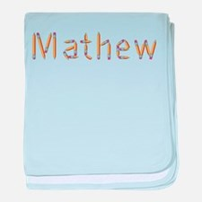 Mathew Pencils baby blanket