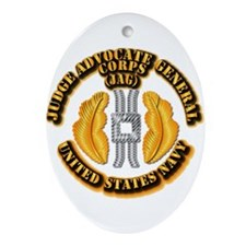 Navy - JAG Corps Ornament (Oval)