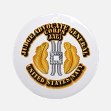 Navy - JAG Corps Ornament (Round)