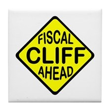FISCAL CLIFF Tile Coaster