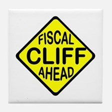 FISCAL CLIFF Tile Coaster