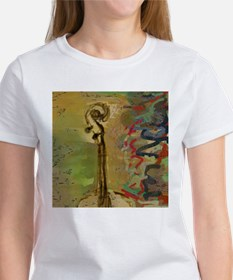 Abstract Cello Scroll Women's T-Shirt
