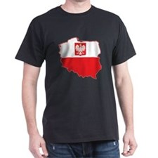 Poland Map In Polish Colors T-Shirt