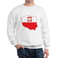 Poland Map In Polish Colors Sweatshirt