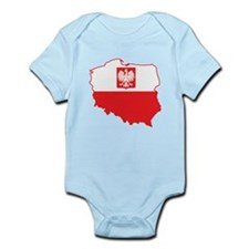 Poland Map In Polish Colors Infant Bodysuit