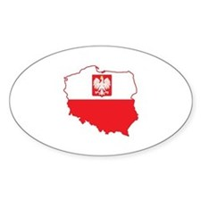 Poland Map In Polish Colors Stickers