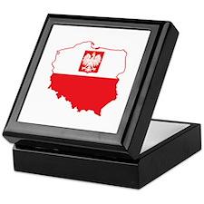 Poland Map In Polish Colors Keepsake Box