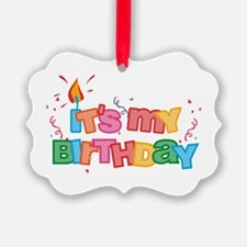 It's My Birthday Letters Ornament