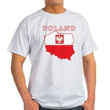 Poland Map With Eagle T-Shirt