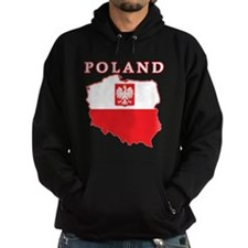Poland Map With Eagle Hoodie