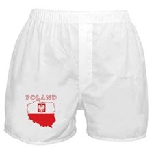 Poland Map With Eagle Boxer Shorts