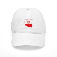 Poland Map With Eagle Baseball Cap