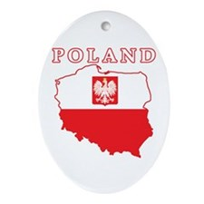 Poland Map With Eagle Ornament (Oval)