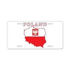 Poland Map With Eagle Aluminum License Plate