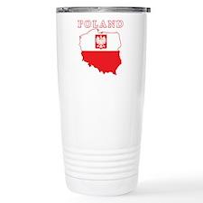 Poland Map With Eagle Travel Mug