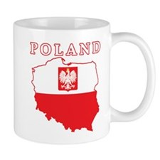 Poland Map With Eagle Mug