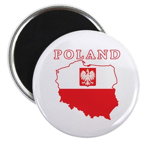 Poland Map With Eagle Magnet
