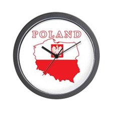 Poland Map With Eagle Wall Clock