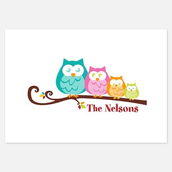 Custom owl family Invitations