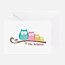 Custom owl family Greeting Cards (Pk of 10)