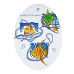 Tropic Oval Ornament