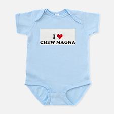 I HEART CHEW MAGNA  Infant Creeper