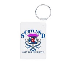 Scotland only for the brave Aluminum Photo Keychai