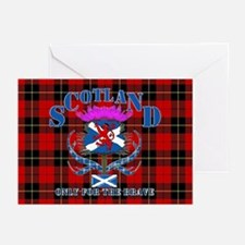 Scotland only for the brave Greeting Cards (Pk of