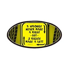 Three Rights Make a Left - Patches
