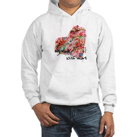 BHWH knitted heart Hooded Sweatshirt