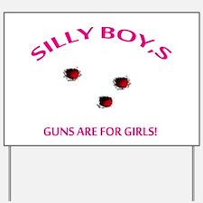 HOT SHOT GIRL Yard Sign